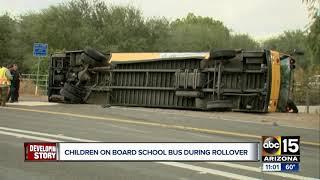 School bus in Avondale rolls over Wednesday morning