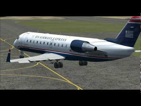 US Airways Flight 2464 CRJ-200 From Albert J Ellis Airport To Ronald Reagan Washington National FSX