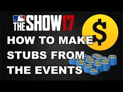 HOW TO MAKE STUBS FROM EVENTS | MLB 17 THE SHOW DIAMOND DYNASTY