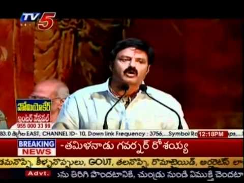 TV5 Film News - Telugu Actor Balakrishna Fires On Ram Charan