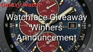 Galaxy Watch/Gear S3 Watch Face Giveaway Winners Announcement