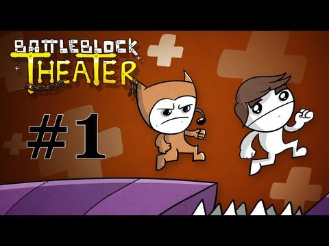 BattleBlock Theater Co-op Walkthrough w/ SSoHPKC and Sly Part 1 - Troll Your Partner: The Game