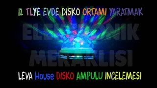 Disko Ampulü İncelemesi (Disco ball light bulb review Turkish)