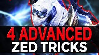 4 ADVANCED ZED TRICKS - Outplay Techniques - League of Legends