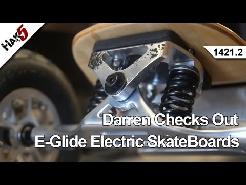 Darren Checks Out E-Glide Electric SkateBoards, Hak5 1421.2