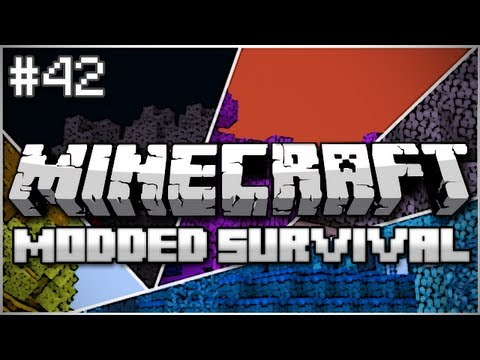 Minecraft: Modded Survival Let's Play Ep. 42 - Slime Sword v2.0