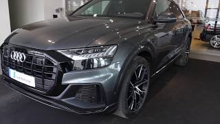 Monster  Daytona grey  Audi Q8 with black optic(light show,start up, reversing, walkaround)