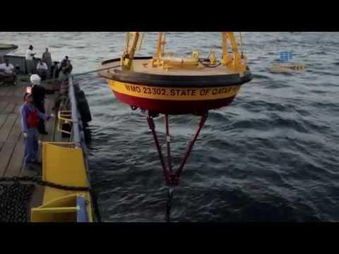 Khaled Zaki Marine buoys Deploying with KBM Marine MIDWIL Trading INC Qatar WLL  & Qatar Meteorology