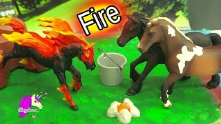 The Fire Horse Legend - Schleich Horses Spooky Halloween Video - Honeyheartsc