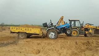 POWERTRACK EURO 50 TRACTOR STUCK WITH LOADED TROLLEY