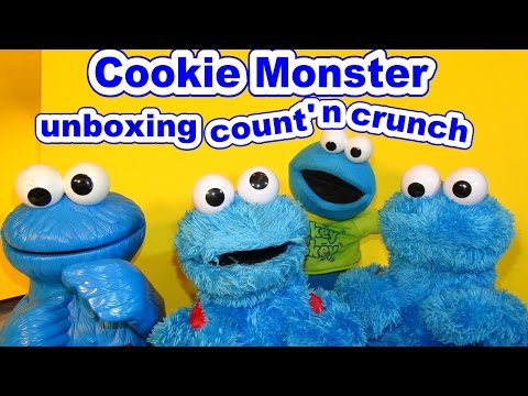 Cookie Monster Count n' Crunch Unboxing and testing with the old Cookie Monster Count n' Crunch