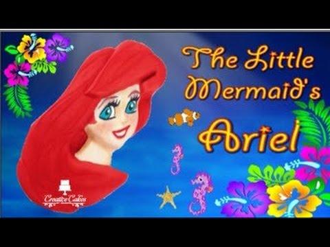 The Little Mermaid's Princess Ariel Cake - (How to make)