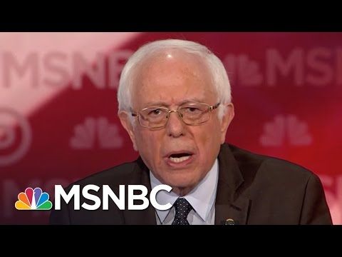 Bernie Sanders: The Economy Is Rigged | Democratic Debate | MSNBC