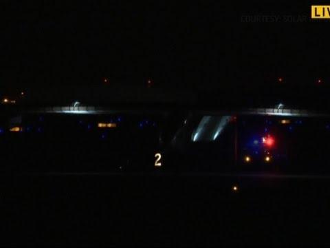 Raw: Solar Impulse Plane Heads to Dayton, Ohio