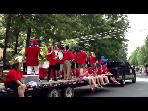 Brooke Point High School band at Aquia Harbor July 4 parade