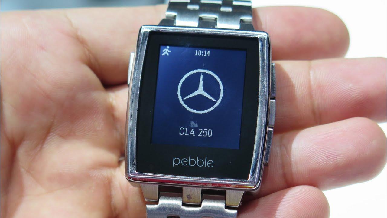Mercedes-Benz App running on the Pebble Steel smartwach ...
