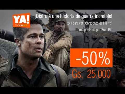 """HOY 19/01/2015 en YA!: 2x1 para ver """"Corazones de Hierro"""" con Brad Pitt. -50% OFF."""
