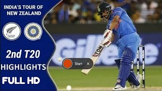 India vs New Zealand 2nd T20 Highlights 2019 HD | Rohit sharma 50 half century in 2nd T20