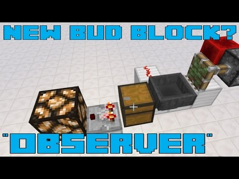 "Minecraft - NEW Redstone BUD Block ""Observer"" - Feedback for Mojang"