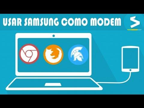 Tutorial usar samsung como modem