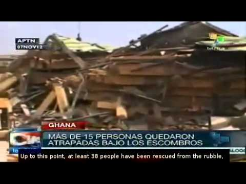 Collapsed building kills three in Ghana