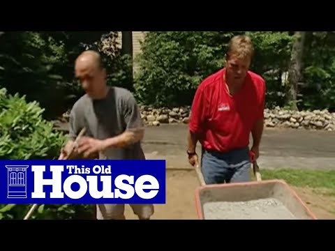 How to lay a brick paver walkway this old house youtube for How to start building a home