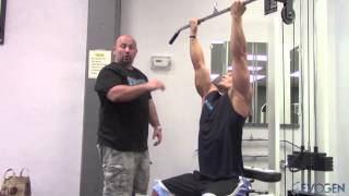 IFBB Men's Physique Pro Jeremy Buendia trains upper lats with Hany Rambod