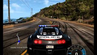NFS Hot Pursuit 2010 Free Roam -  Lambo Reventon and Bugatti Veyron Cop Cars HD