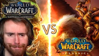 Asmongold Reacts: Classic WOW VS Battle For Azeroth By Nixxiom