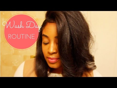 Relaxed Hair Wash Day   ft. E'TAE Carmelux Products