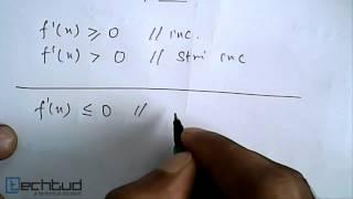 Mathematics: Increasing or Decreasing Function