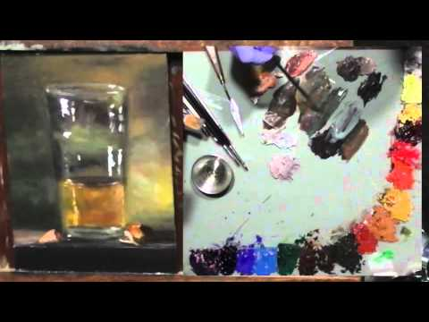 Oil Painting, A Glass of Beer, Time Lapsed Video
