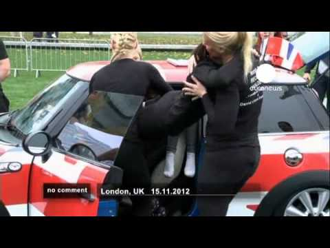28 women into a Mini Cooper - no comment