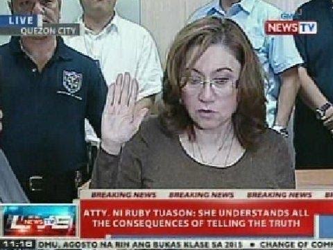 NTVL: Ruby Tuason, dinala na sa Ombudsman para panumpaan ang kanyang salaysay