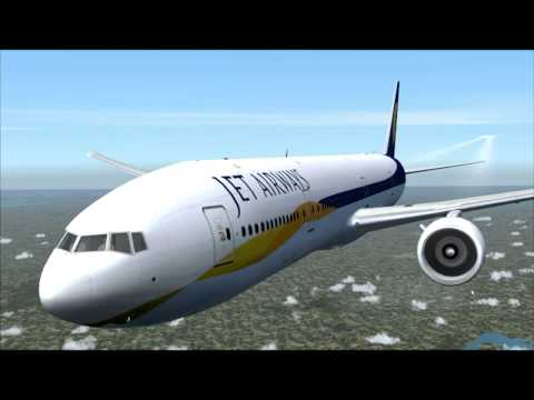 777-300ER JET AIRWAYS MUMBAI - HONG KONG