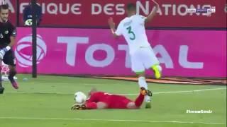 ملخص و أهداف مباراة تونس والجزائر 2-1  تعليق حفيظ الدراجي كأس أمم افريقيا CAN 2017