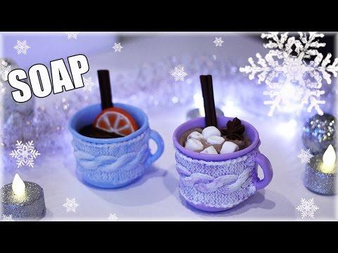 Download video: DIY: Soap МЫЛО Чашка какао с маршмеллоу Ароматный глинтвейн Мыловарение
