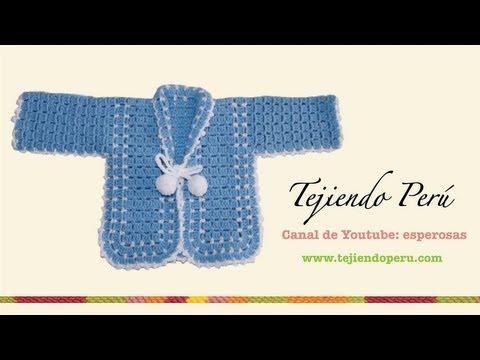 Ropón o chaqueta para bebé en crochet (Parte 1)