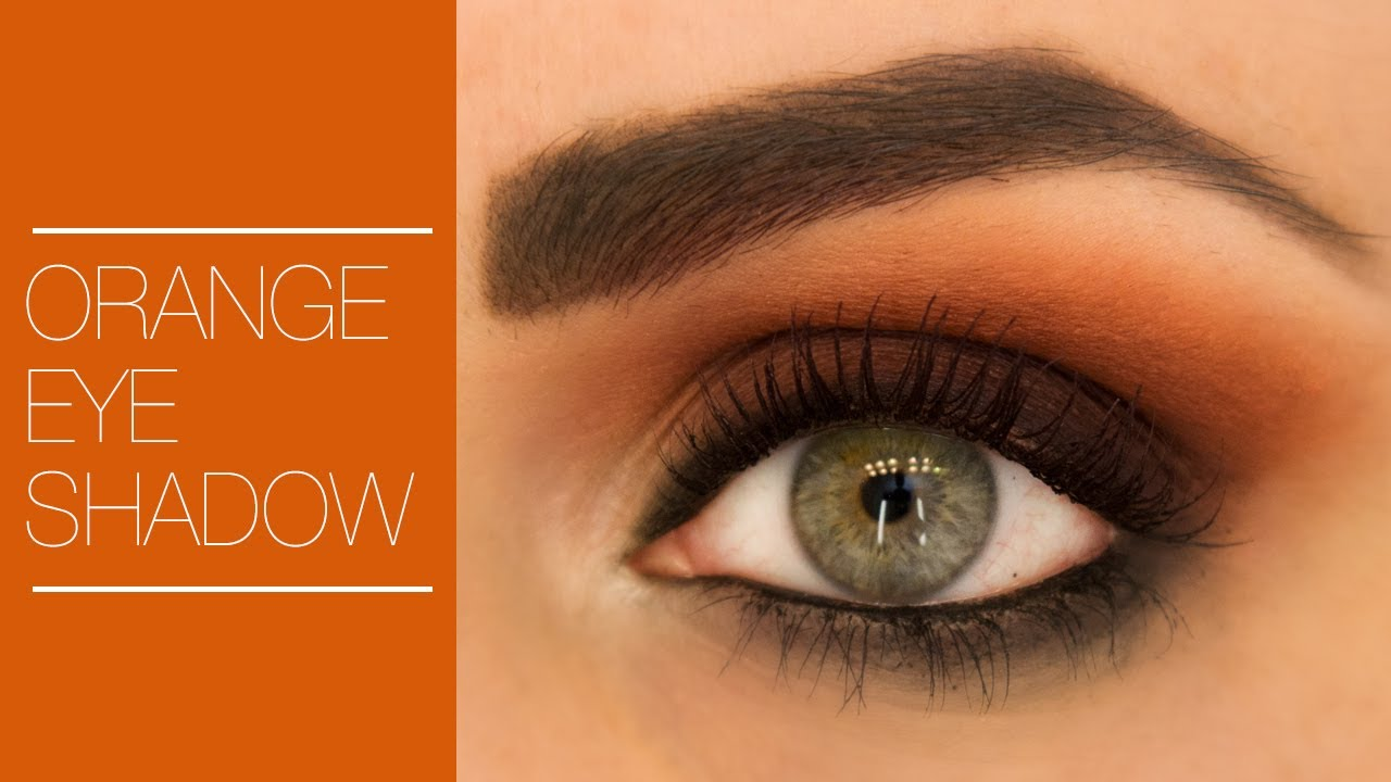 How to Wear Orange Eyeshadow