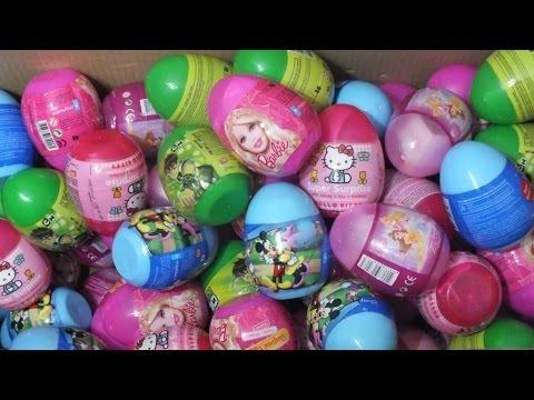 120 Surprise Eggs HELLO KITTY MICKEY MOUSE BARBIE BEN 10 DISNEY PRINCESS!!