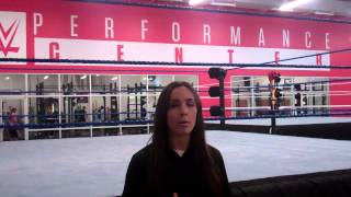 Trainer/Producer Sara Amato at WWE Performance Center 2014