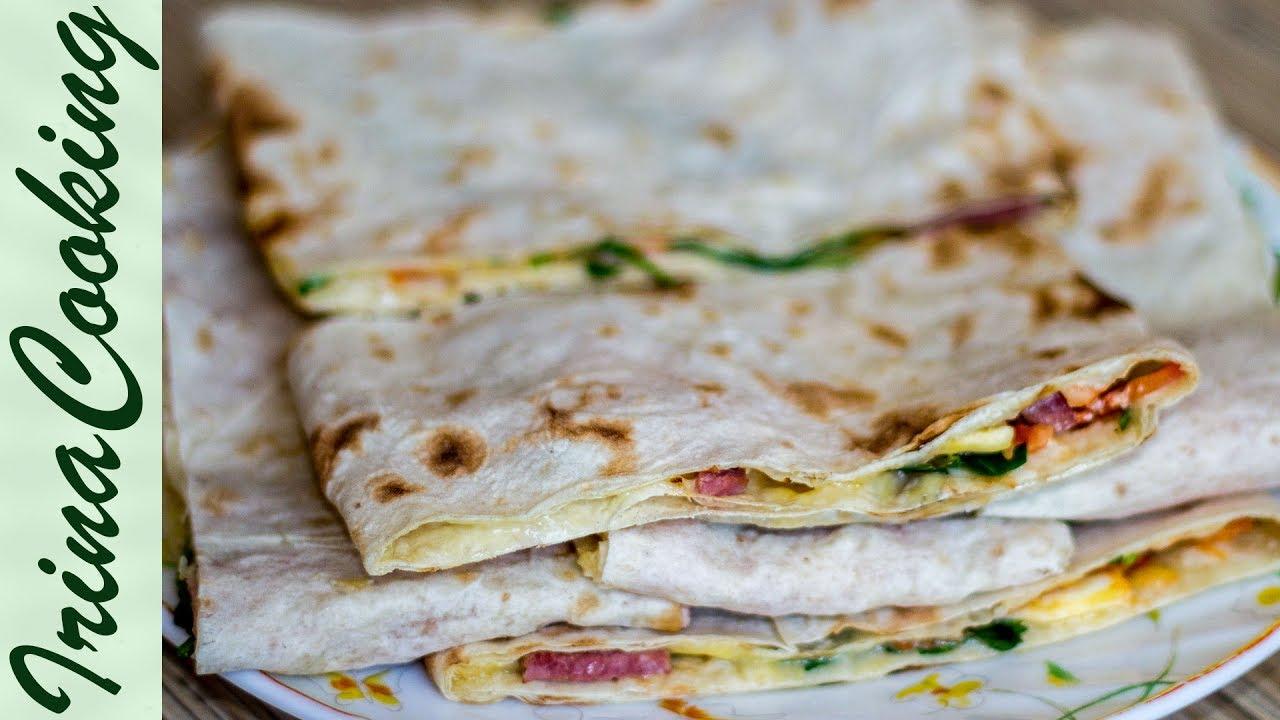 Горячие бутерброды из лаваша рецепты пошаговые