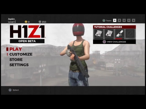 H1Z1 PS4 OPEN BETA GAME PLAY 狩る。
