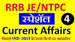 Railway JE/NTPC स्पेशॅल Current Affairs 2019, RRB JE/NTPC Current Affairs in Hindi, Exam Forum