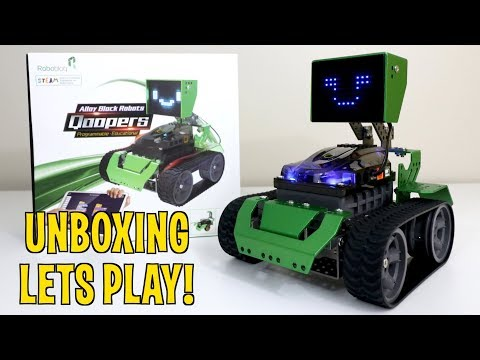 Unboxing & Lets Play! - Qoopers ROBOT - 6 In 1 Transformer Kit - By Robobloq -  STEM Robotics