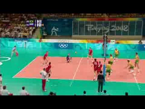 Brazil vs Russia - Men's Volleyball - Beijing 2008 Summer Olympic Games