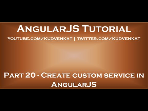 Create custom service in AngularJS