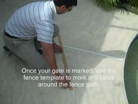 How to Measure and Mark to Drill for Your Sentry Safety Pool Fence