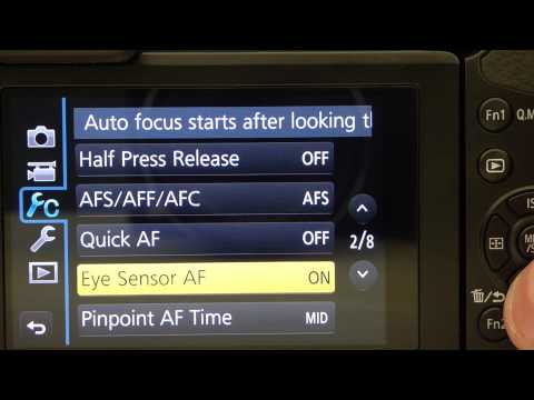 Panasonic Lumix GX7 Menu Walkthrough Focus Peaking