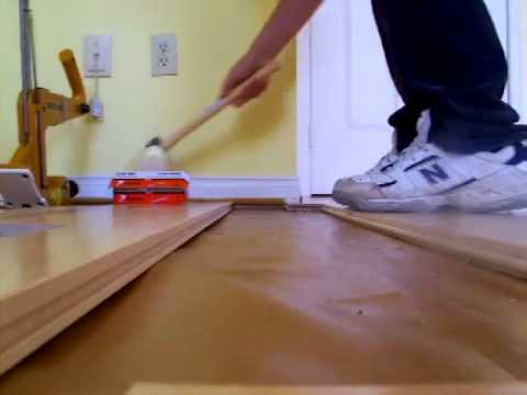 Easy Hardwood floor installation using  Manual Nailer